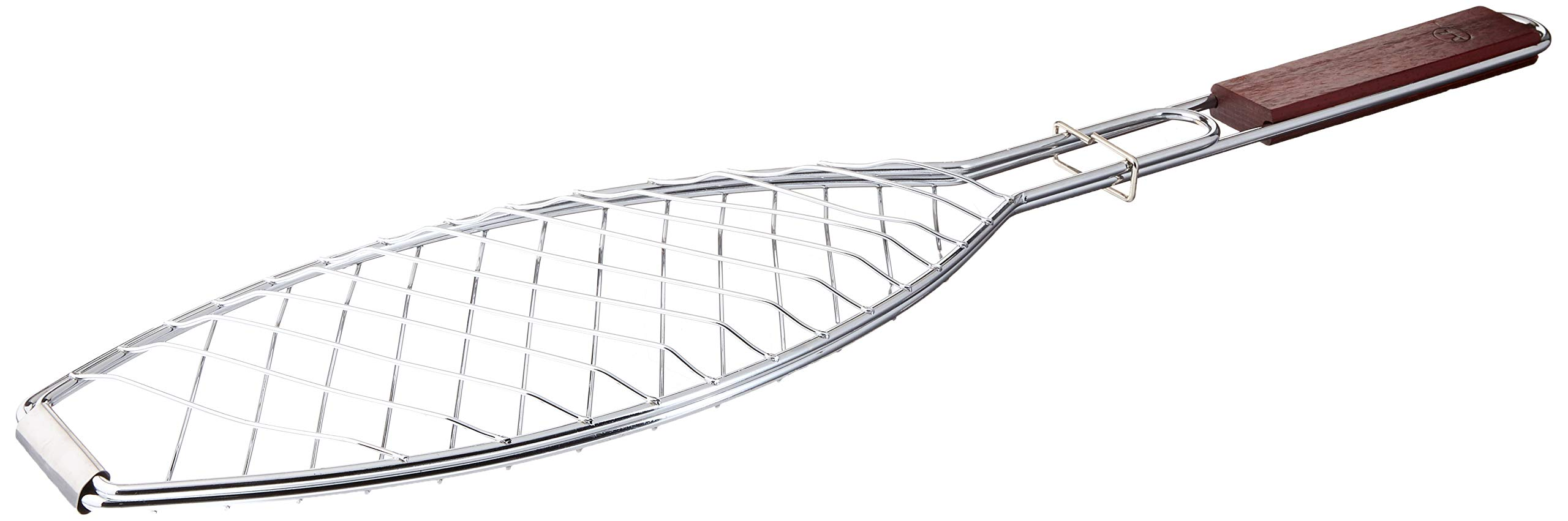 Outset QC70 Fish Grill Basket with Rosewood Handle by Outset