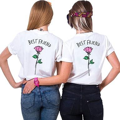 f0b8dd9b Shirts Best Friends Tshirt 2-Pack Matching Shirts Rose Shirt BFF Gift Cute  Women Tops