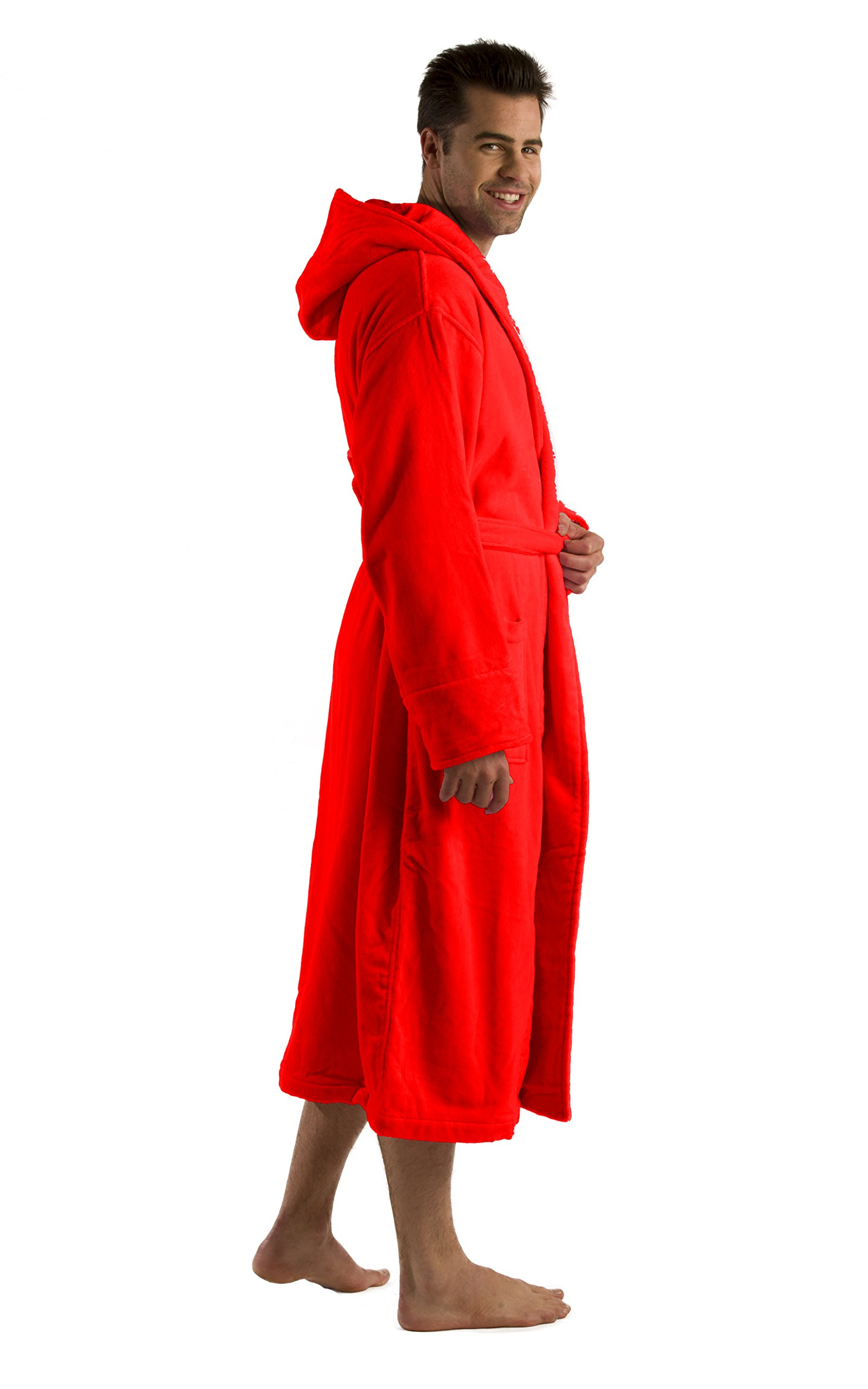 Terry Robe for Womens and mens, RED, 2XL/3XL