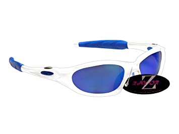 94318a33c237 RayZor Professional Lightweight UV400 White Sports Wrap Cycling ...