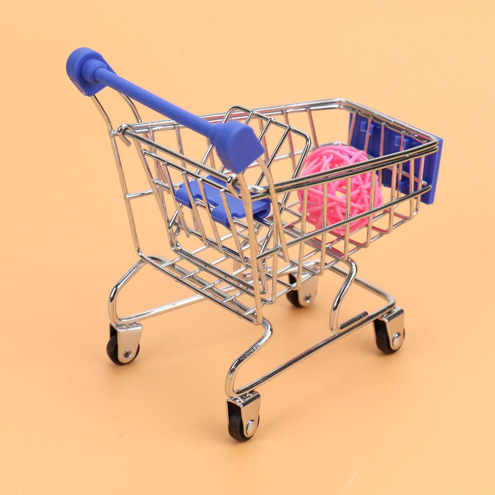 WSSROGY 3 Pack Mini Supermarket Handcart Cart Mode Storage Toy Table Office Novelty Decoration by WSSROGY (Image #2)