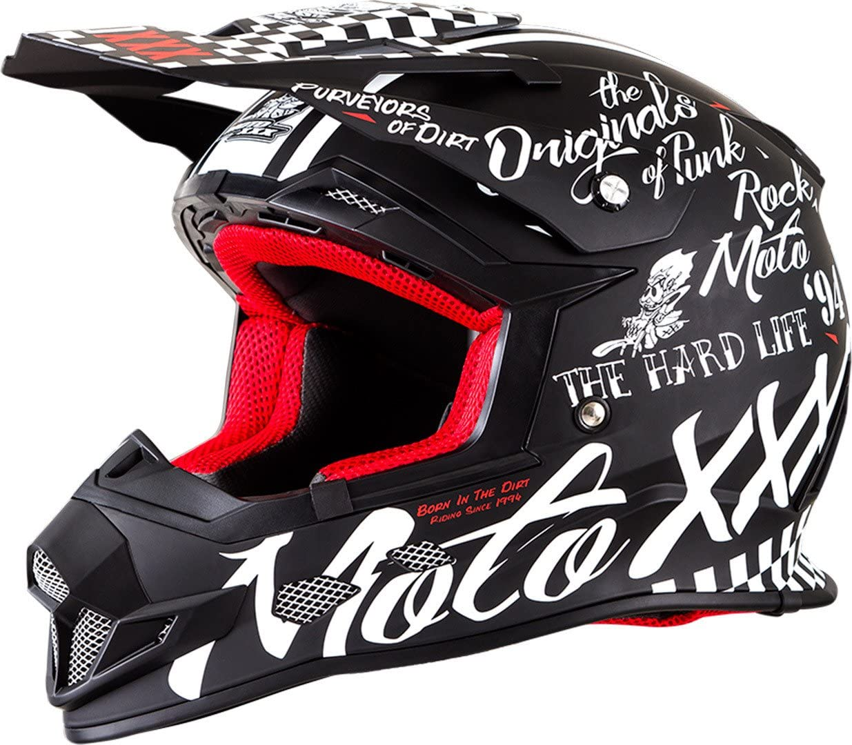 53//54cm ONeal 0817-501  Unisex-Adult Full-face Style Sierra II Helmet Flat Black XS