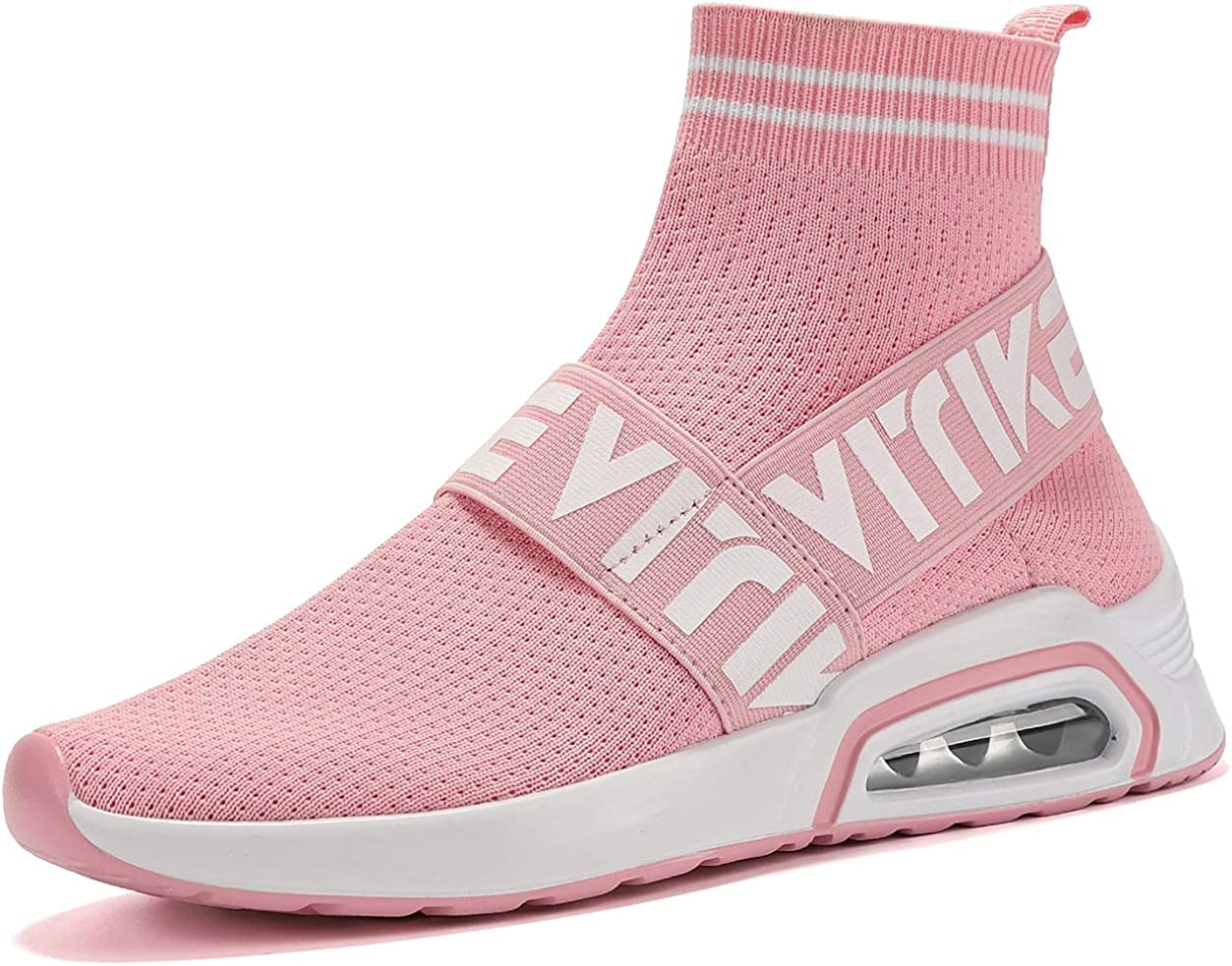 Women's Walking Shoes Running Shoes Socks Platform Fashion Mesh Sneakers Air Cushion Athletic Gym Casual Loafers Dance Hip-hop Shoes