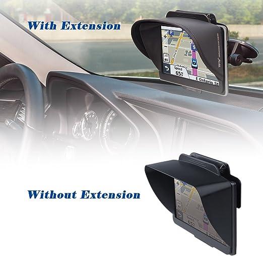 TFY Visera Parasol Navegador GPS más Extensión Pieza Visera Flexible para Garmin nüvi Portable GPS y Otros GPS (7 Pulgadas): Amazon.es: Coche y moto