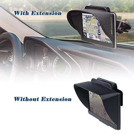 TFY Visera Parasol Navegador GPS más Extensión Pieza Visera Flexible para Garmin nüvi Portable GPS y