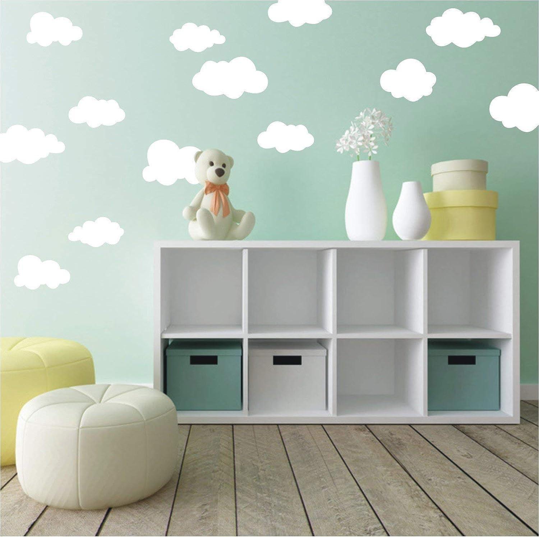 Wandaufkleber 20 Wolken Wandtattoo Wandsticker Sticker Wanddeko Kinderzimmer Himmel Kuche Haushalt Kinderzimmerdekoration