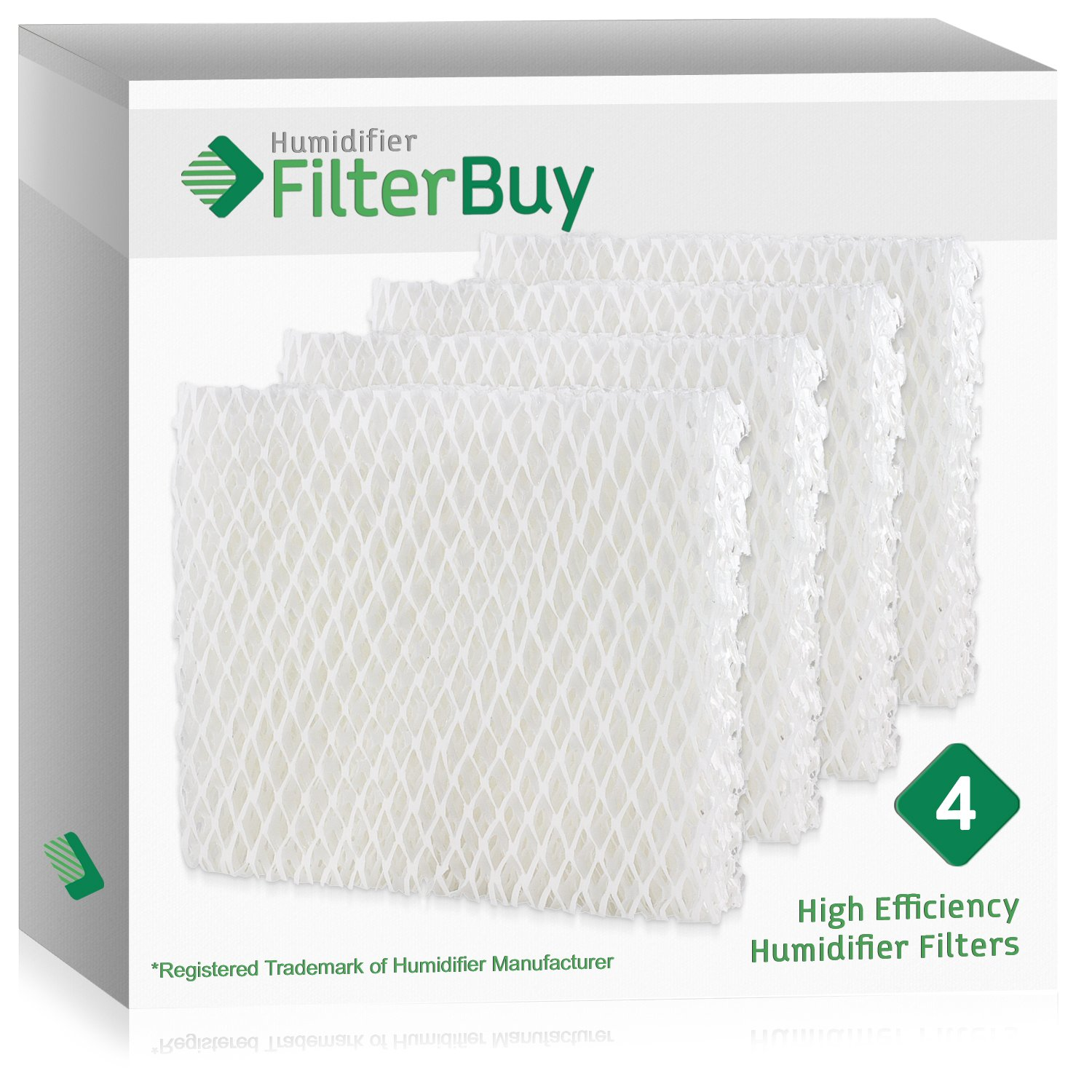 FilterBuy Replacement Filters Compatible with Holmes HWF55, Vornado 221, 232, 421, 432, HU1-0021. Pack of 4.