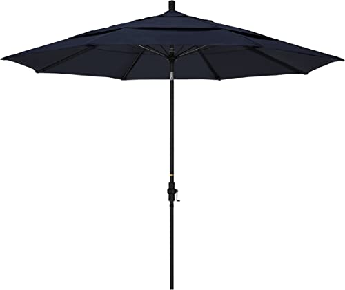 California Umbrella 11' Round Aluminum Pole Fiberglass Rib Market Umbrella