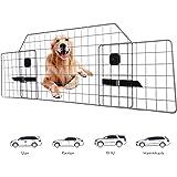 Adakiit Dog Barrier for SUV Car & Vehicles, Adjustable Pet Barrier Car Gate Universal Fit Wire Mesh Dog Car Guard - Car…
