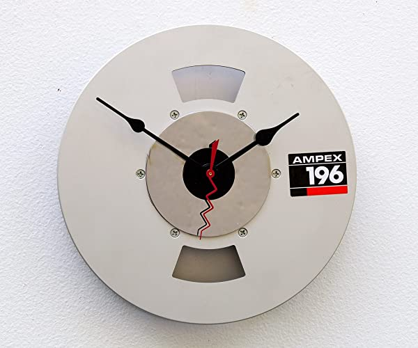 Recycled Aluminum Video Tape Reel Clock