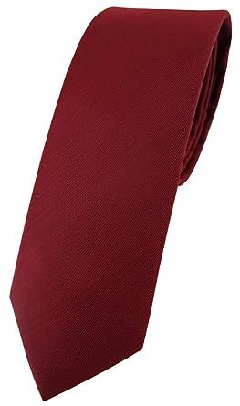 Blick. elementum - corbata de seda estrecha - burdeos borgoña ...