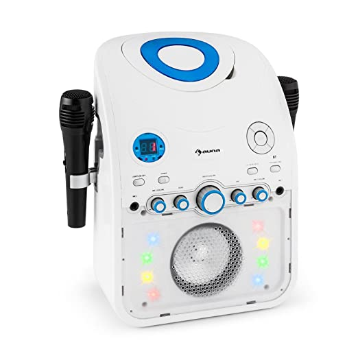 27 opinioni per auna Starmaker Impianto Karaoke bluetooth con effetti luce multicolore e lettore