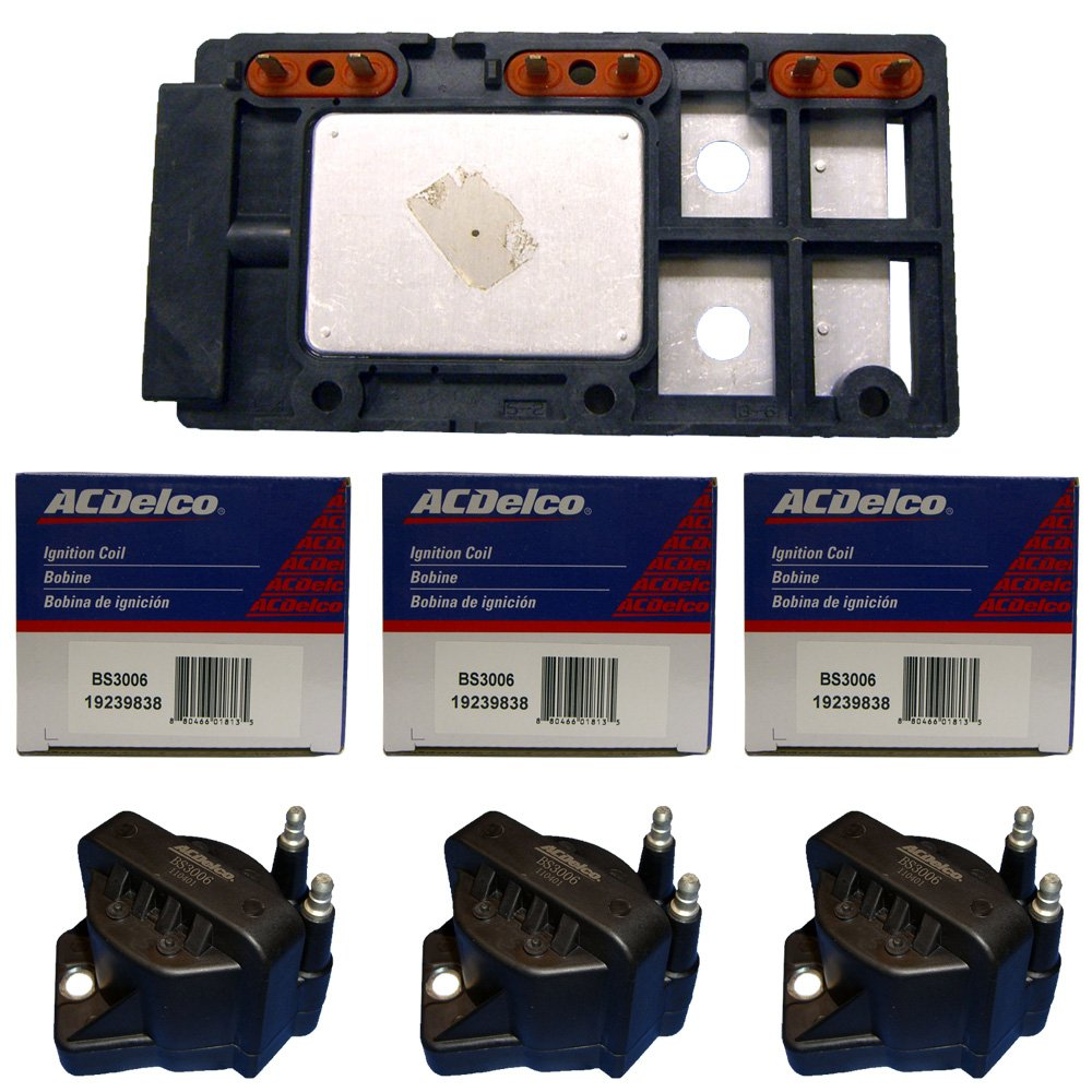3 ACDelco Mexico High Performance Ignition Coils + 1 Ignition Control Module D555 LX364
