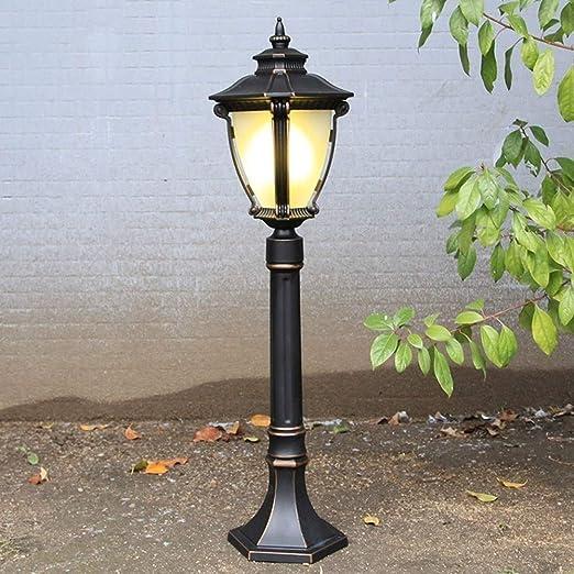 ZSAIMD Jardín exterior Lámparas de pie Garaje pared de la antorcha de la linterna Pilar luz