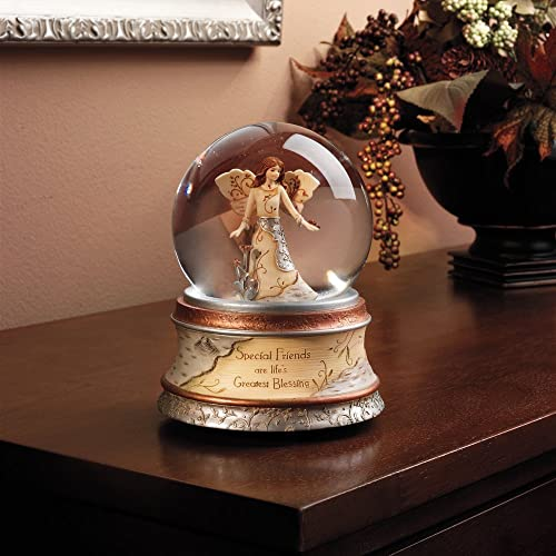Pavilion Gift Company Elements Special Friends 100 mm Musical Waterglobe with Tune -Inch That s What Friends are for-Inch