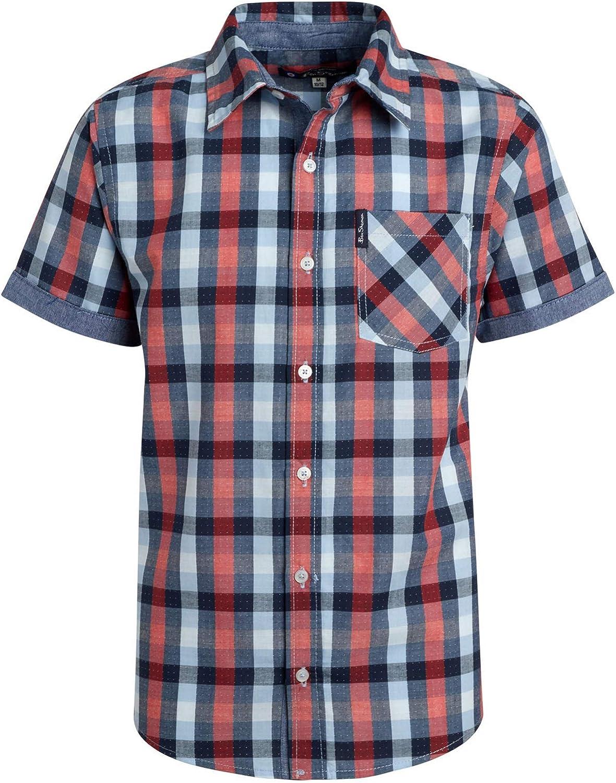 2 Pack Ben Sherman Boys Short Sleeve Button Down Woven Shirt