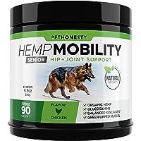 PetHonesty Senior Hemp Mobility - Hip & Joint Supplement for Senior Dogs - with Hemp Oil & Hemp Powder, Glucosamine…