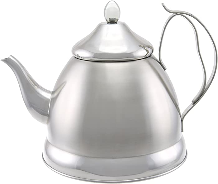 Creative Home Nobili-Tea 2Qt Stainless Steel Tea Kettle with Stainless Steel Infuser - Brushed Finish