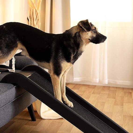 Dibea Dr00891 Hunderampe 100 X 38 Cm Kunststoff Leicht Schwarz Haustier
