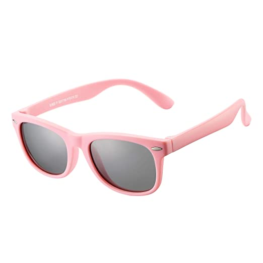 71d4cef3e9ff AZORB Kids Polarized Sunglasses TPEE Rubber Flexible Frame for Boys Girls  Age 3-10,