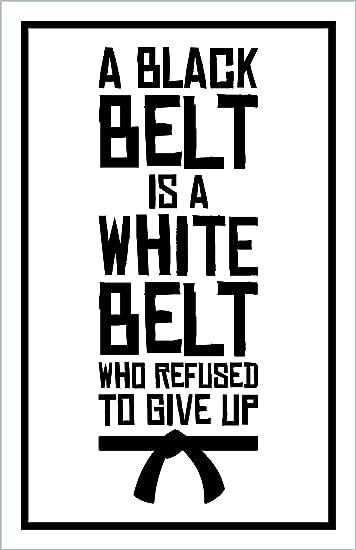 Amazon.com: Damdekoli - Cinturón blanco negro Jiu Jitsu ...