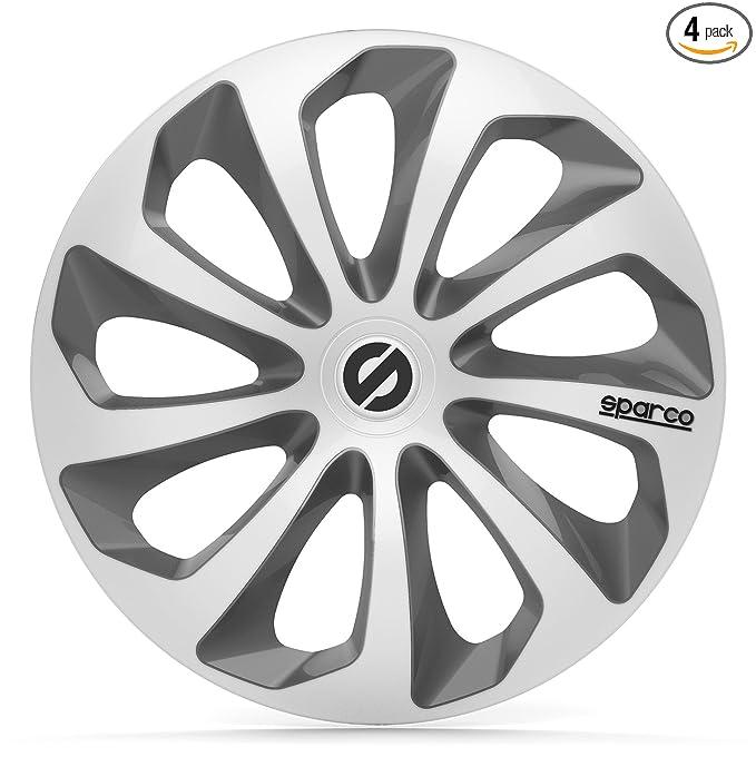 Amazon.com: Sparco SPC1673SVGR Sicilia Wheel Covers, Silver/Grey, Set of 4, 16