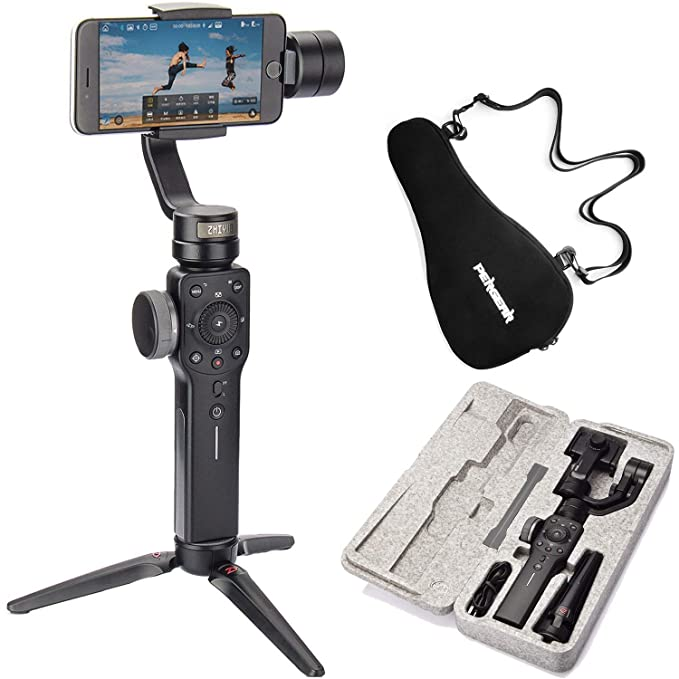 Zhiyun Smooth 4 Case Kit, Zhiyun Smooth Q Upgraded Version, 3 Axis Handheld Smartphone Gimbal, Focus Pull & Zoom Capability, Timelapse Expert, Object ...