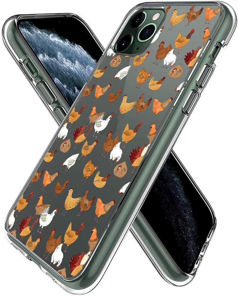 jacbob iPhone 11 Pro Max Case Chicken iPhone 11 Pro Max Case Chicken Anti-Scratch Soft Durable TPU Silicone Mobile Phone Case for iPhone 11 Pro Max (Chicken)