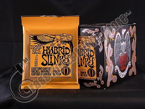 Bulk 12 sets, Ernie Ball, cuerdas para guitarra eléctrica, Hybrid Slinky calibre (