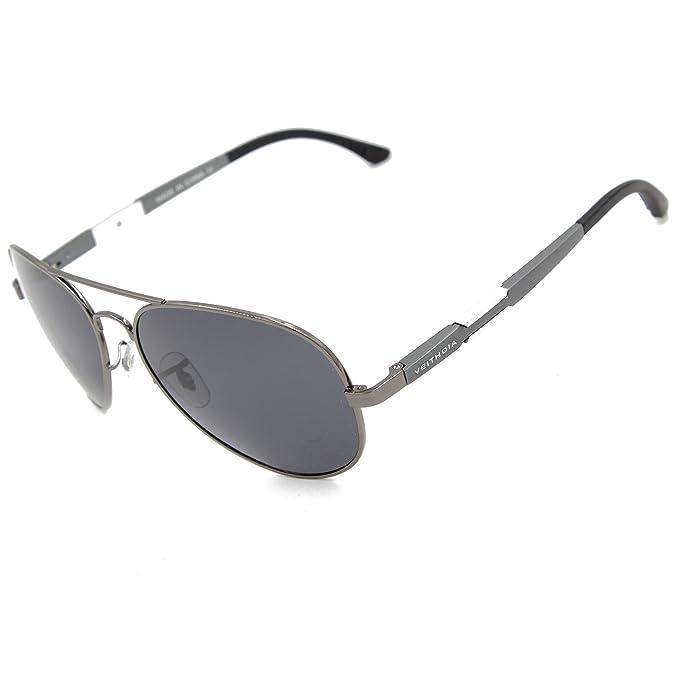 VEITHDIA v6695 Classic polarizadas Aviator Gafas de sol 100% protección UV
