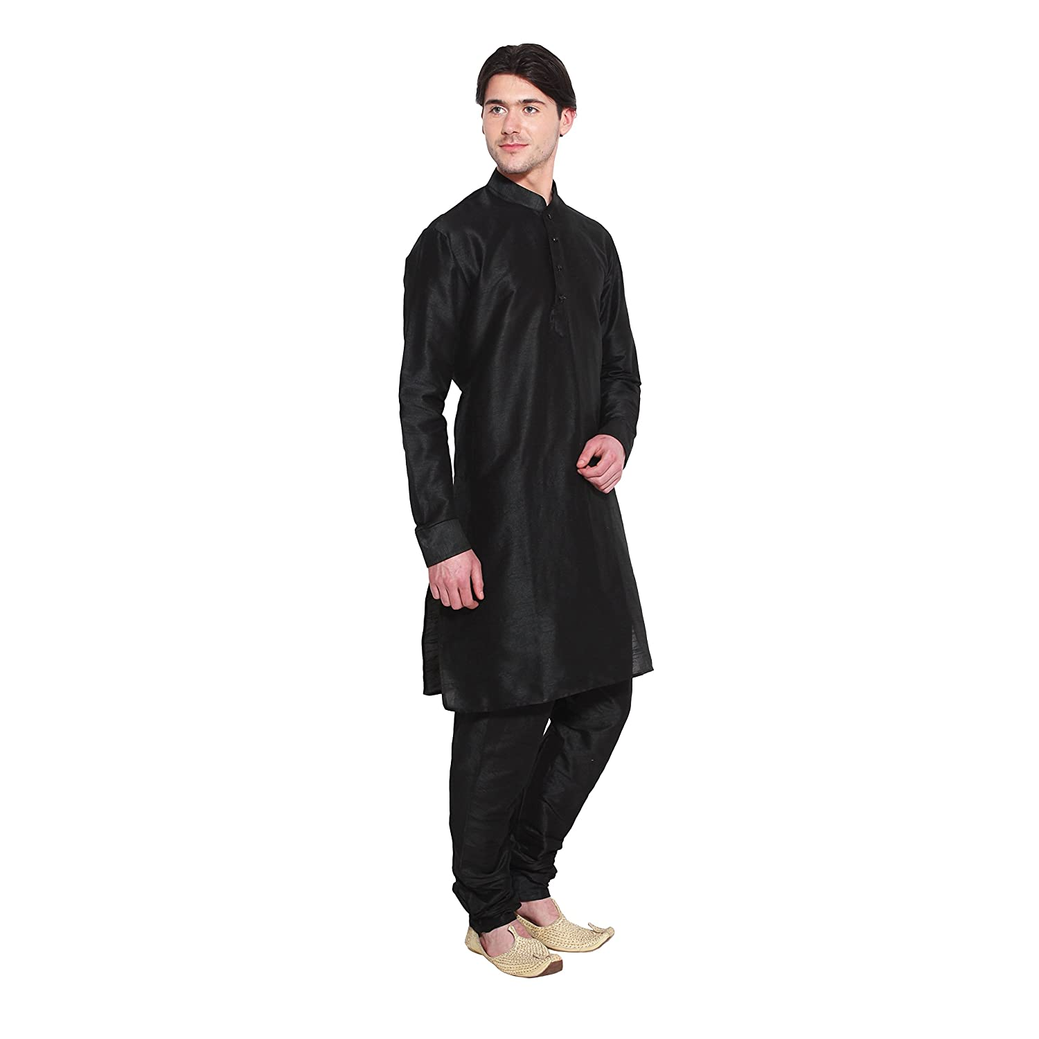 Amazon.com: Mens Kurta Pajama Set Black Bollywood Designer Ethnic Wedding Indian Apparel: Clothing