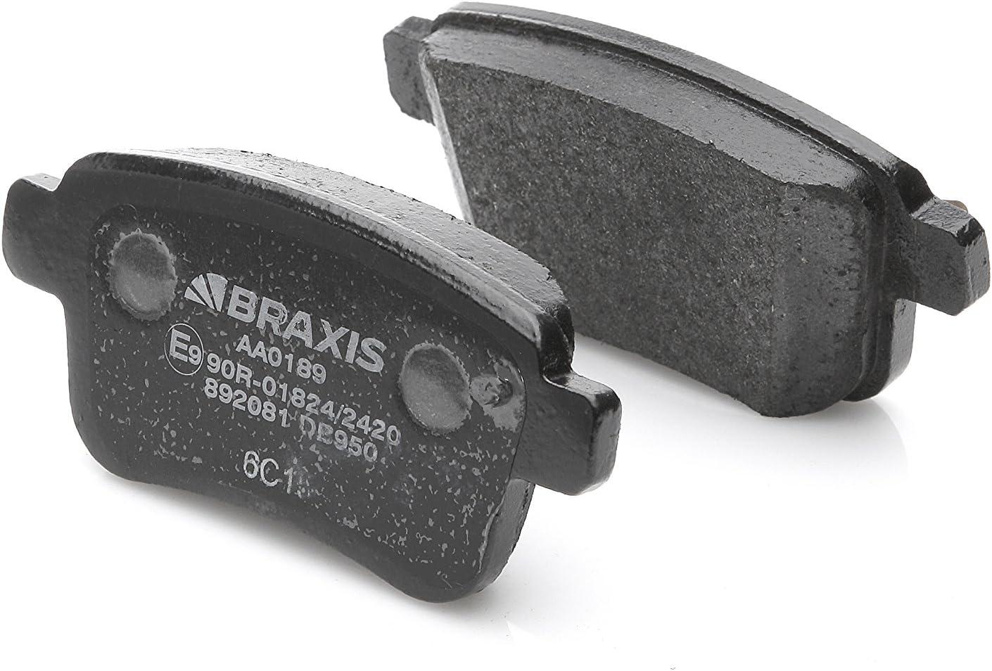 conjunto de 4 BRAXIS AA0049 Pastillas de freno traseras