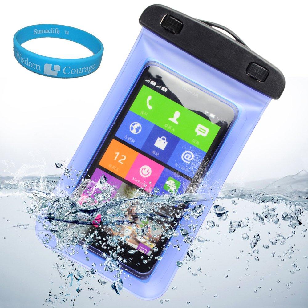 水中防水ケースバッグポーチ取り外し可能なストラップアームバンドfor BLU Studio 5.0 K / BLU Studio 5.0 C HD / BLU Studio 5.5 d610 a / SHARKK (シャーク) Androidスマートフォン4 Gロック解除GSM電話5