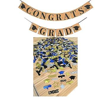 amazon co jp congrats grad confetti brown kraft banners