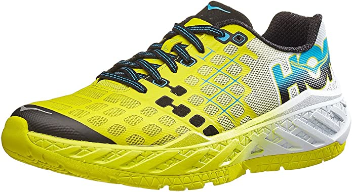 Hoka One One Hombre M Clayton Running Shoe, Medium / 7 D(M) US, Citrus/White: Amazon.es: Deportes y aire libre