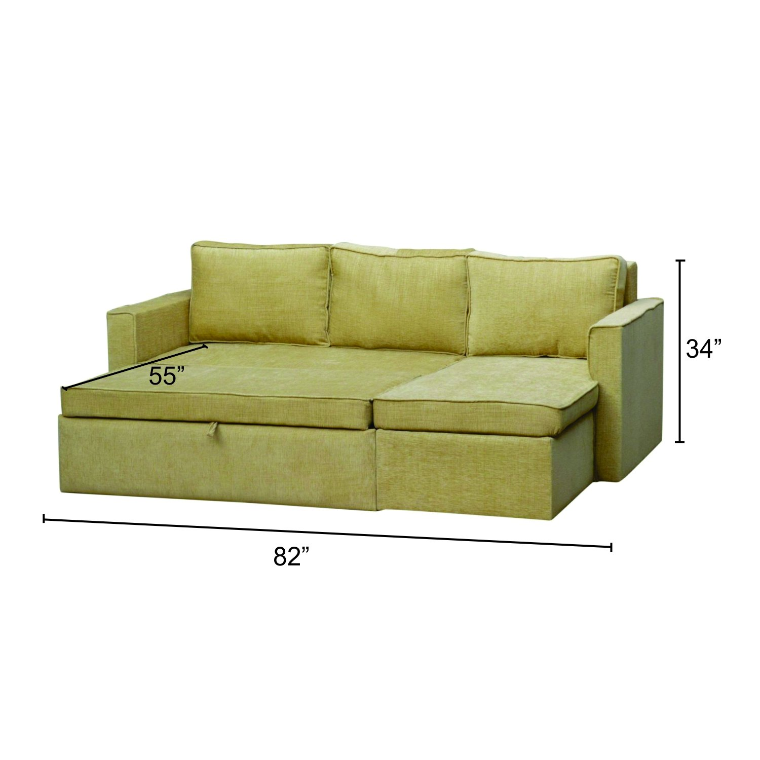 Mubell Weston Wiese L Shape Sofa Cum Bed Sectional 7 Feet Wide