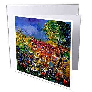 3DROSE GC 21111_ 16x 15,2cm'' Estate fiori biglietto d' auguri (confezione da 6)