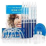 genkent Professional Teeth Whitening Kit 44% Carbamide Peroxide 6 Syringes Gel + 2 Pcs. Thermoform Trays + 1 Pcs. Bonus White Light
