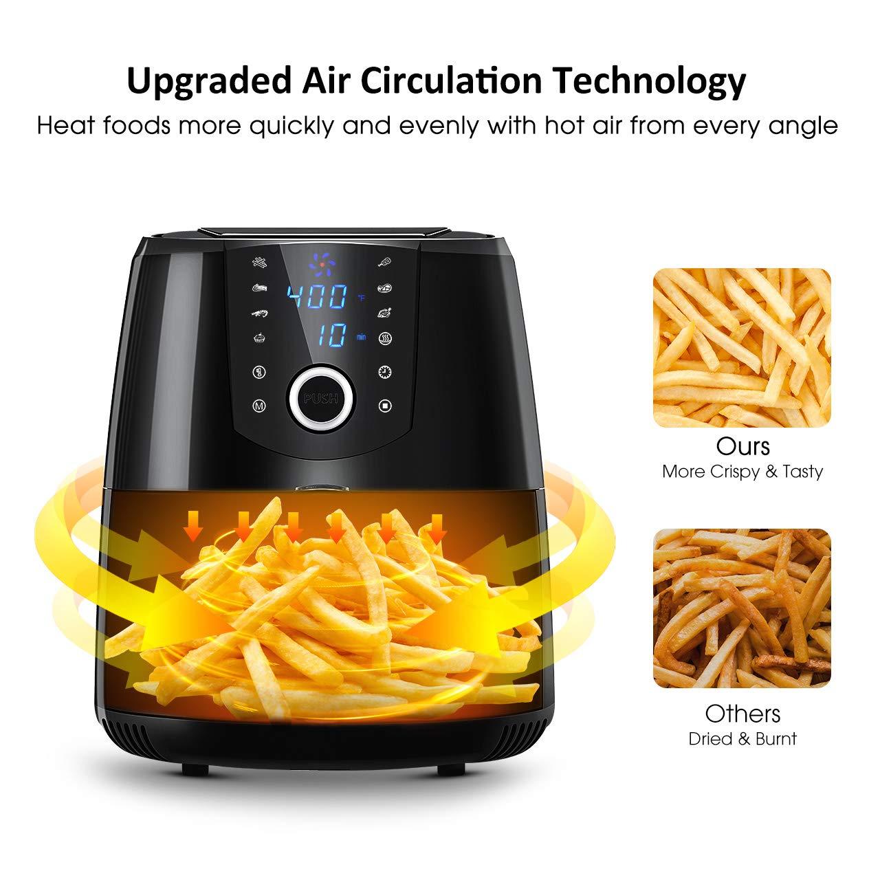 Amazon.com: OMORC - Freidora de aire, 3,8 litros (libro de ...