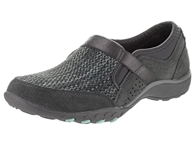 Skechers Women's Relaxed Fit Breathe Easy Deal Me In Slip On  Shoe,Charcoal,US