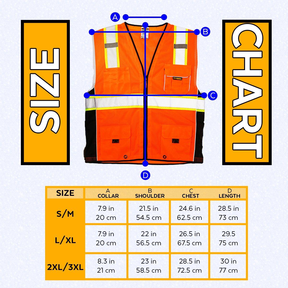 KwikSafety CLASSIC Safety Vest | Class 2 ANSI OSHA PPE | High Visibility Reflective Stripes, Heavy Duty Mesh with Pockets and Zipper | Hi-Vis Construction Work Hi-Vis Surveyor | Orange S/M by KwikSafety (Image #8)