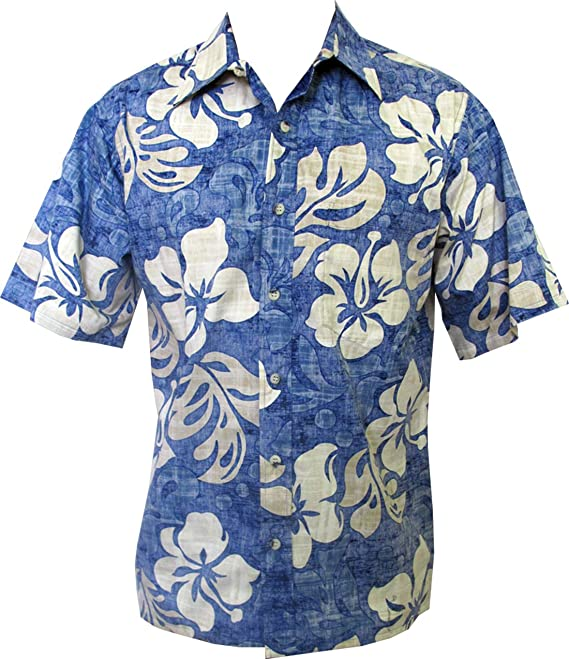 6aeaefc1d Go Barefoot Mens Texture Hibiscus Placket Reverse Shirt at Amazon Men's  Clothing store:
