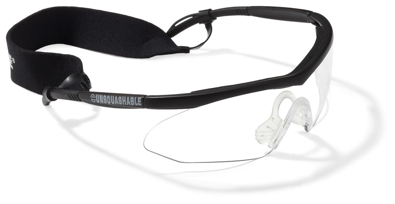 Unsquashable - Gafas protectoras de squash (lente transparente), color negro 383301