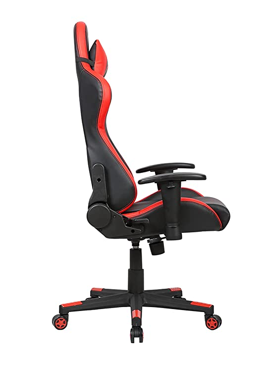 Latest Amazon Turismo Racing Sovrano Series Gaming Chair BIG AND TALL Black and Red Seat has DUAL MEMORYFOAM System for Optimum fort in Gaming for BIG Luxury - Simple Elegant most comfortable chair in the world Picture