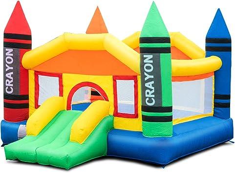 Amazon Com Costzon Inflatable Bounce House Castle Jumper Slide