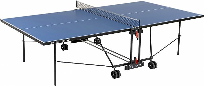 Garlando Mesa Ping Pong Progress Outdoor con Ruote per Esterno Azul: Amazon.es: Juguetes y juegos