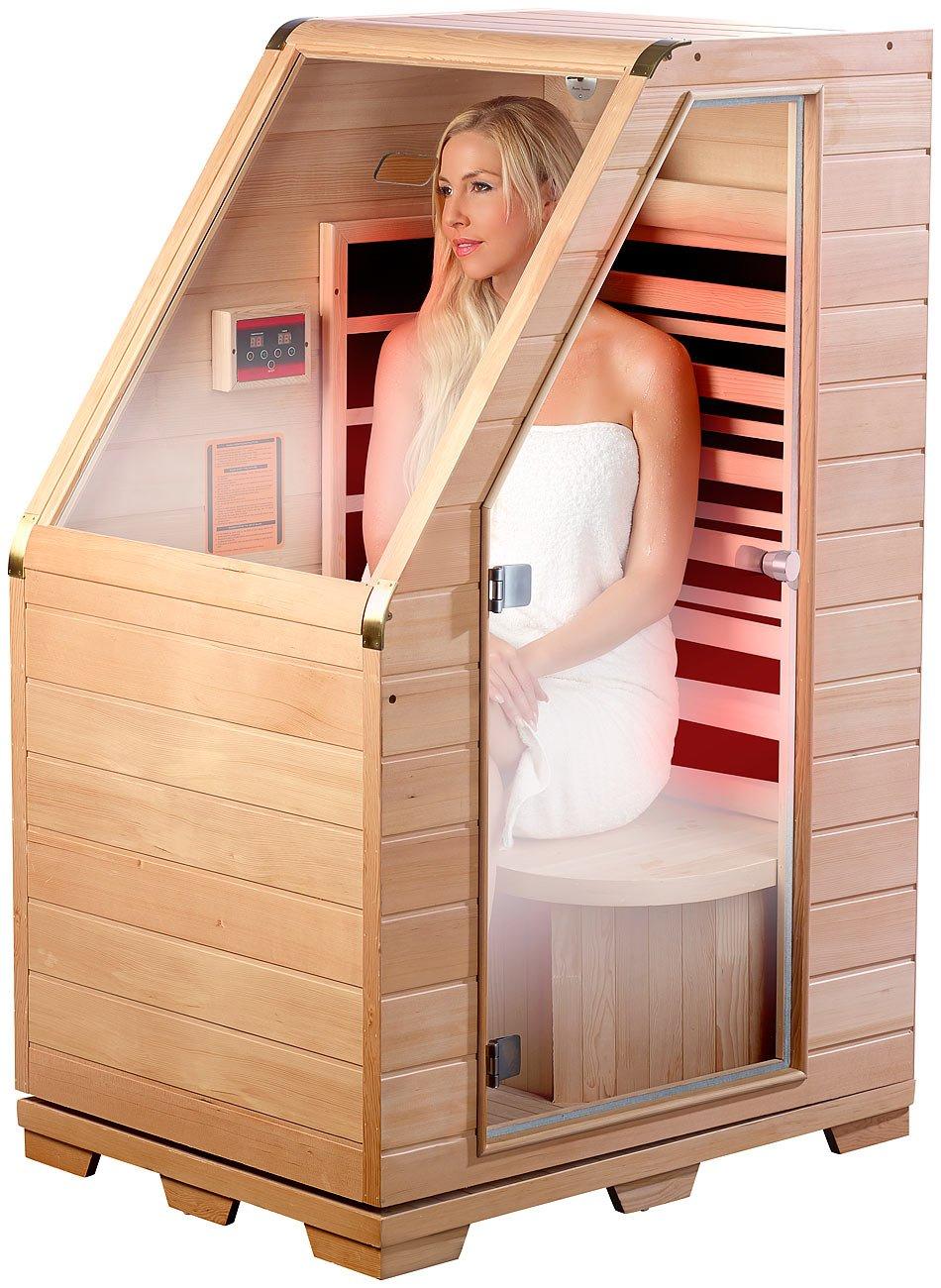 newgen medicals Sitzsauna für Zuhause: Infrarot-sauna