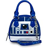 Loungefly X Star Wars R2D2 Micro Mini Dome Crossbody Bag in Silver/Blue