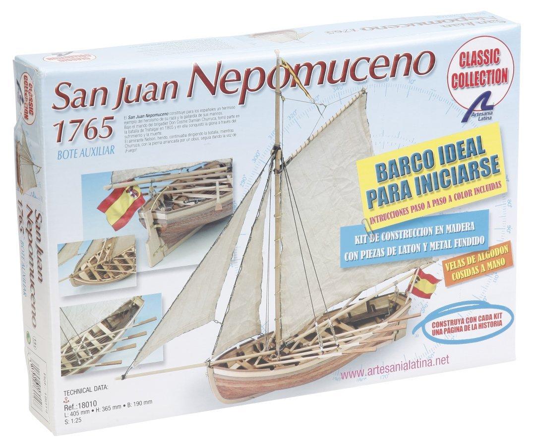 San Juan de Nepomuceno Captains Boat 1//25 Wooden Model Ship