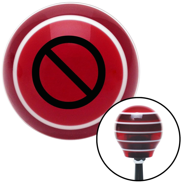 Black NO Symbol American Shifter 119407 Red Stripe Shift Knob with M16 x 1.5 Insert